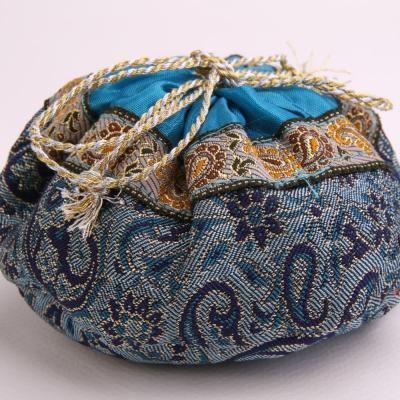 Sacchetto artigianale Termeh - Blu