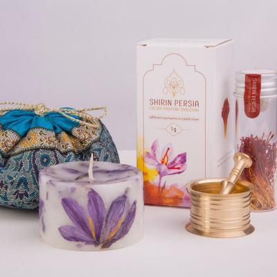 Confezione regalo Blue Notte + Zafferano iraniano di Qa'en - in pistilli interi da 1 grammo